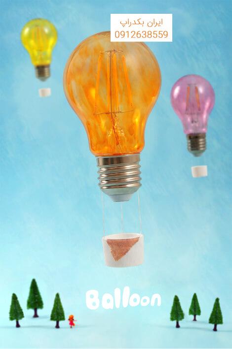 بالون لامپ های رنگی