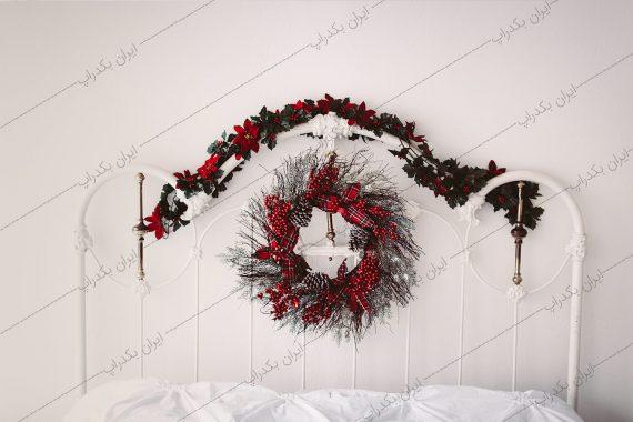 بکگراند تخت خواب کریسمس