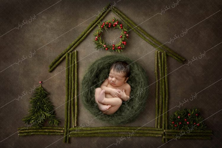 بک دراپ کریسمس طرح خانه