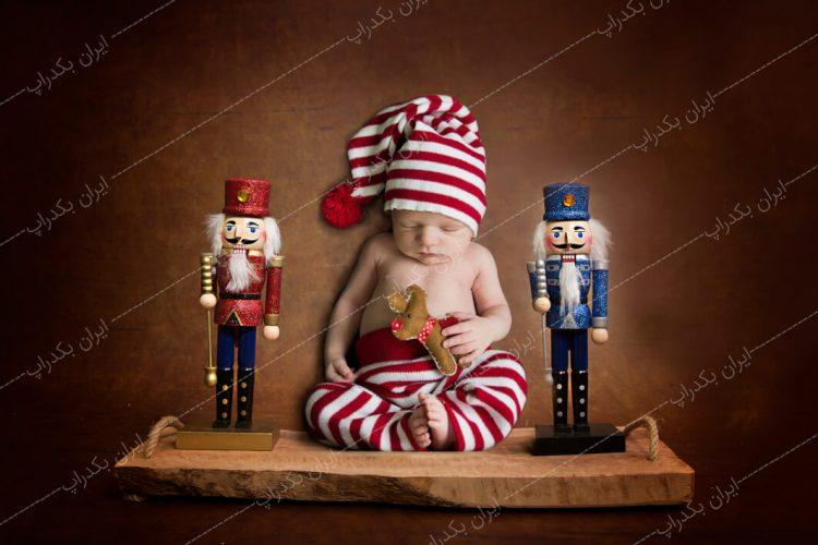 بک دراپ نوزاد شلف کریسمس