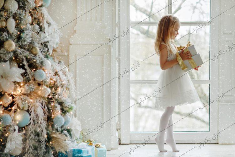 بک گراند کودک کریسمس