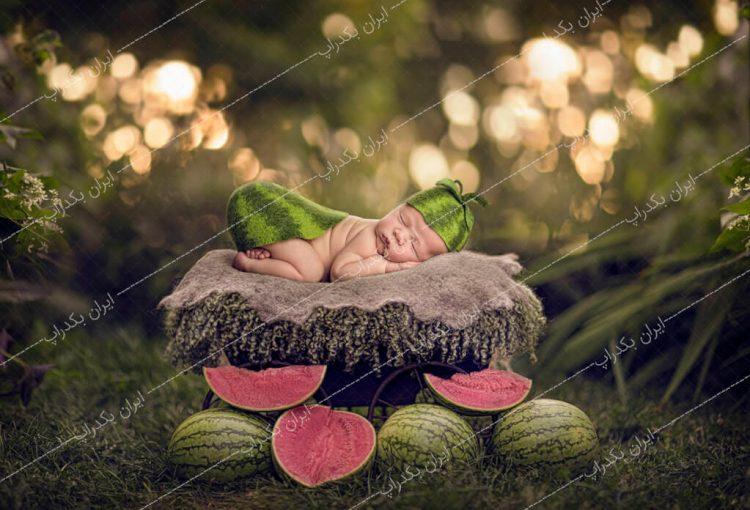 بک دراپ نوزاد یلدا گاری هندوانه