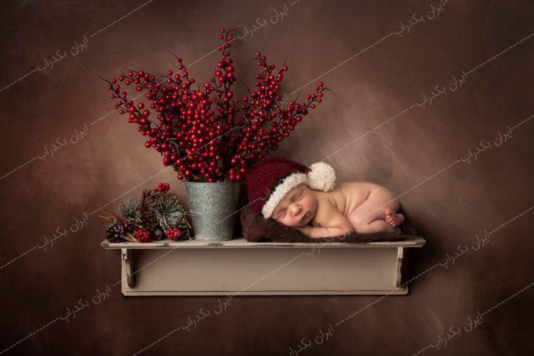 بک دراپ شلف نوزاد و کریسمس