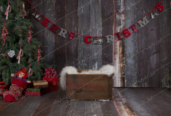 بک دراپ کریسمس نوزاد فضای آتلیه