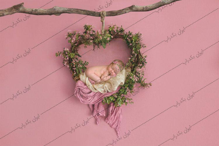 بک دراپ نوزاد حلقه قلب