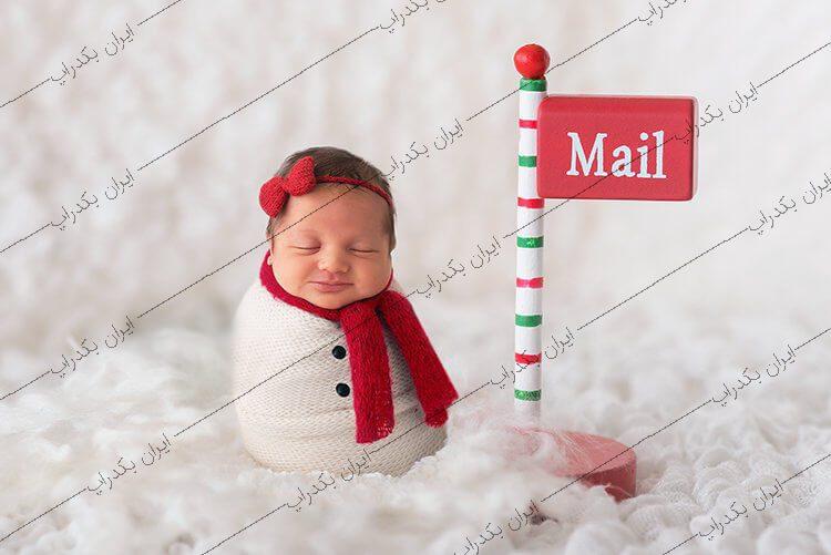 بک دراپ نوزاد برف و زمستان