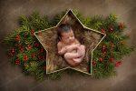 بک دراپ نوزاد سبد ستاره ای کریسمس