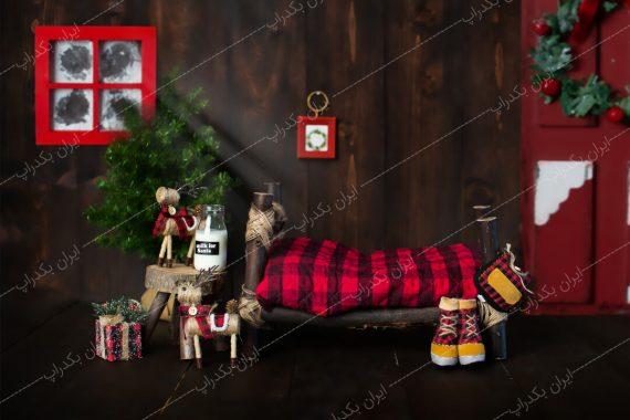 بک دراپ دکور کریسمس