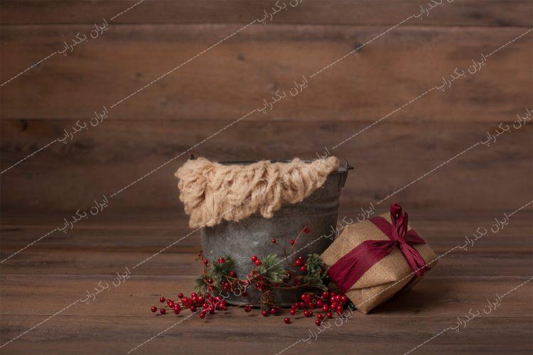 بک دراپ نوزاد کریسمس