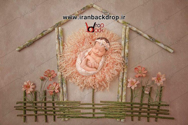 بک گراند عکاسی نوزاد