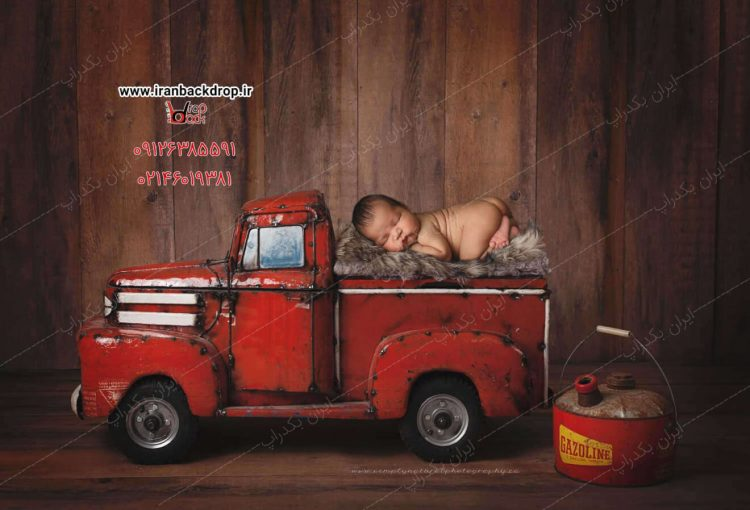 بک دراپ عکاسی نوزادی آتش نشان