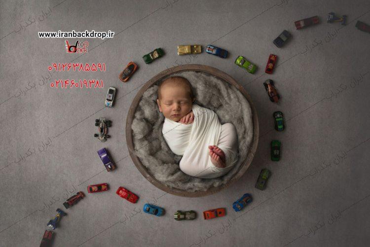 بک دراپ پسرانه نوزادی ماشین ریزه ها