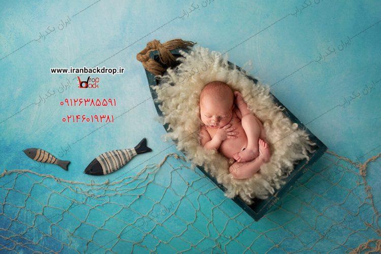 بک دراپ نوزادی تابستانی