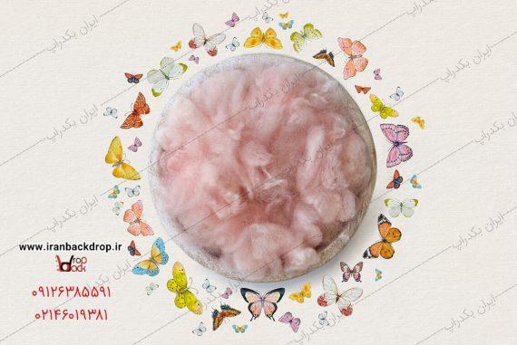بک دراپ عکاسی نوزاد با پروانه های نقاشی شده فانتزی
