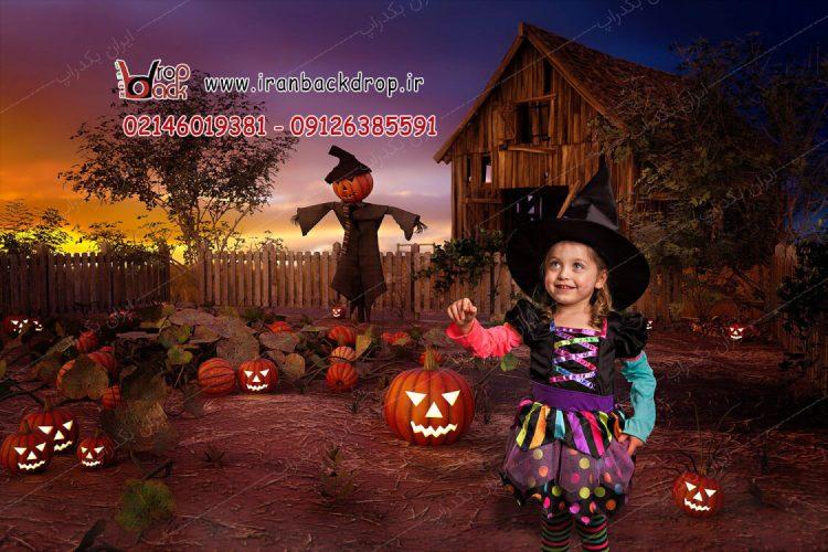 بک دراپ هالووینی