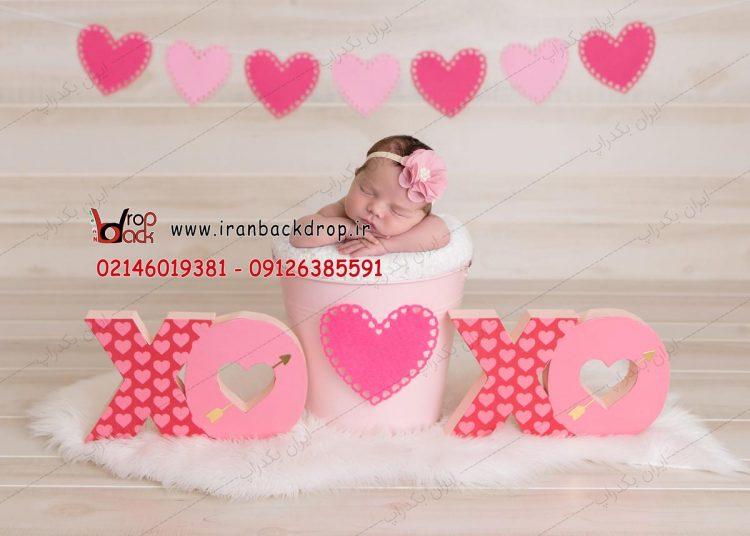 بک دراپ نوزاد ولنتاین
