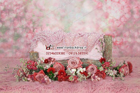 بک دراپ گل گلی بهاره