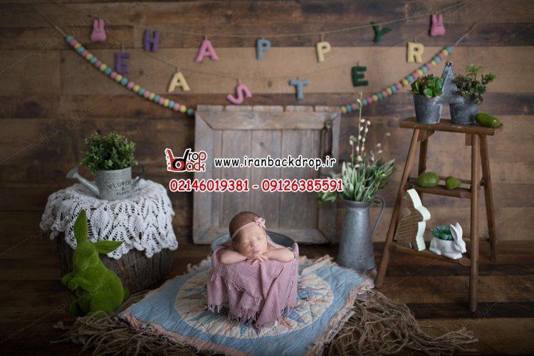 بک دراپ دانلودی نوزاد بهاری