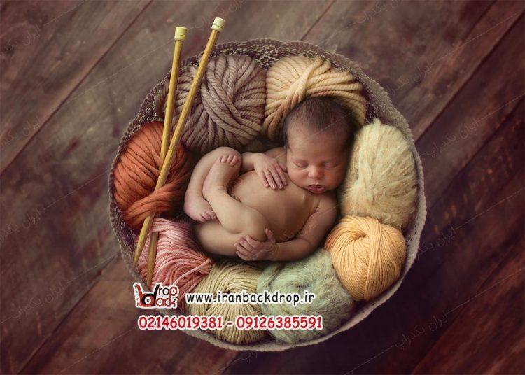 بک دراپ عکاسی نوزاد