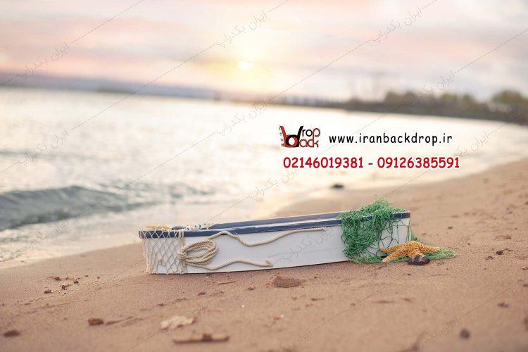 بک دراپ ساحل دریا